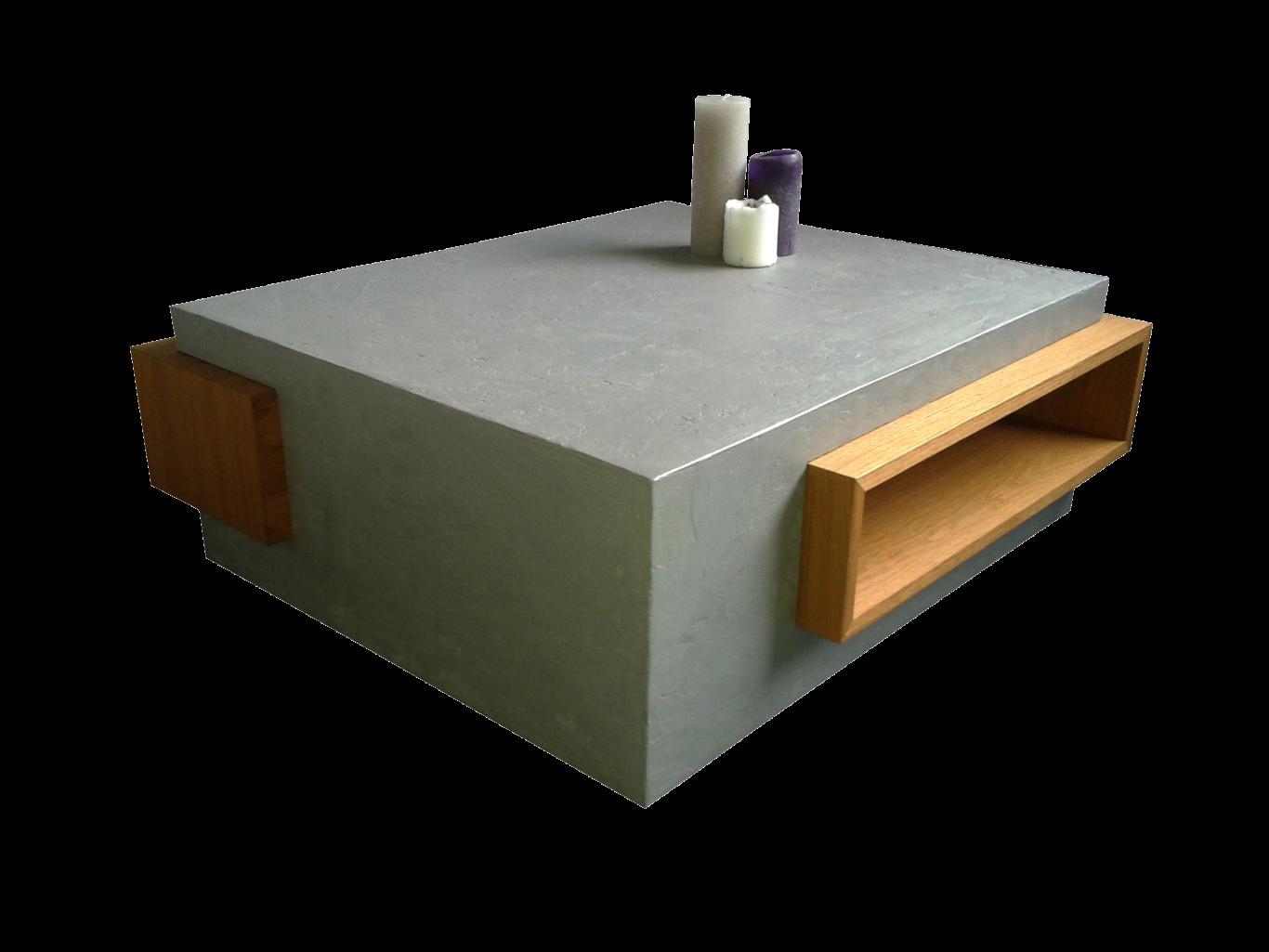 Design salontafel met beton cire door Paul Meubelen